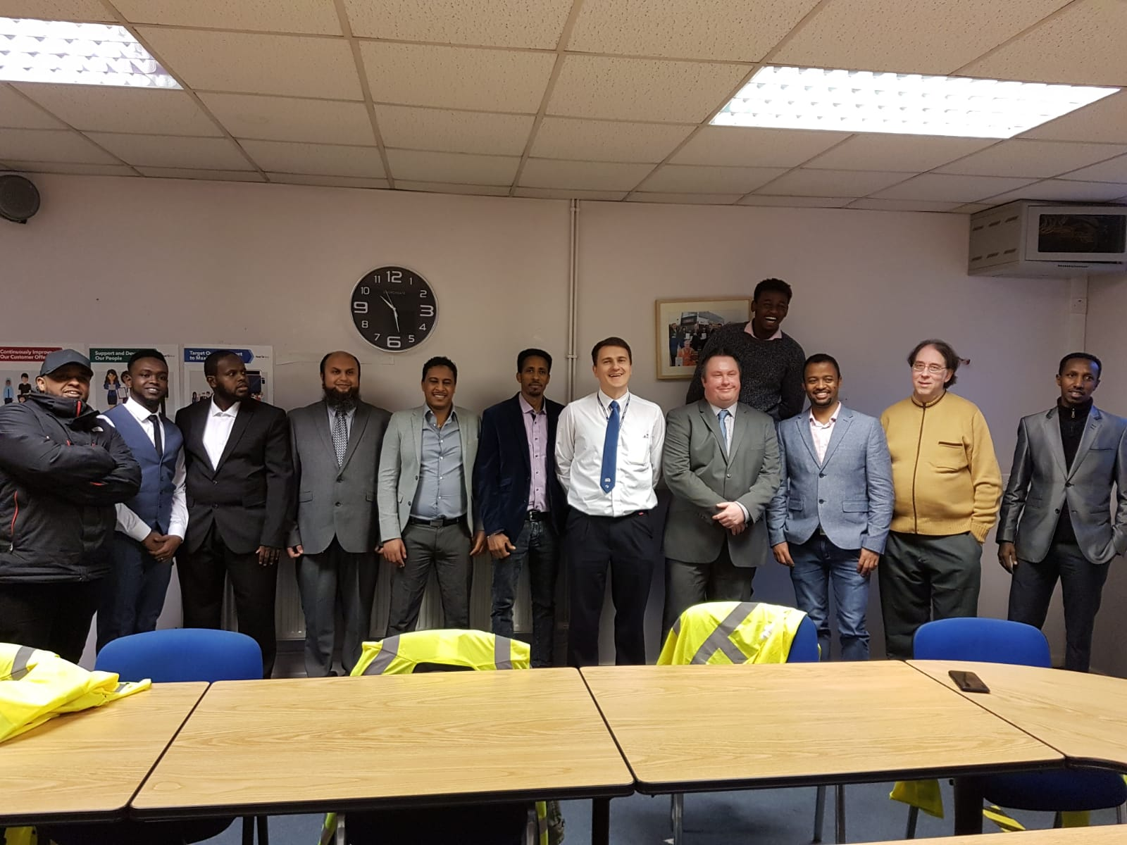 Candidates on the ACH First West of England refugee bus driver training programme