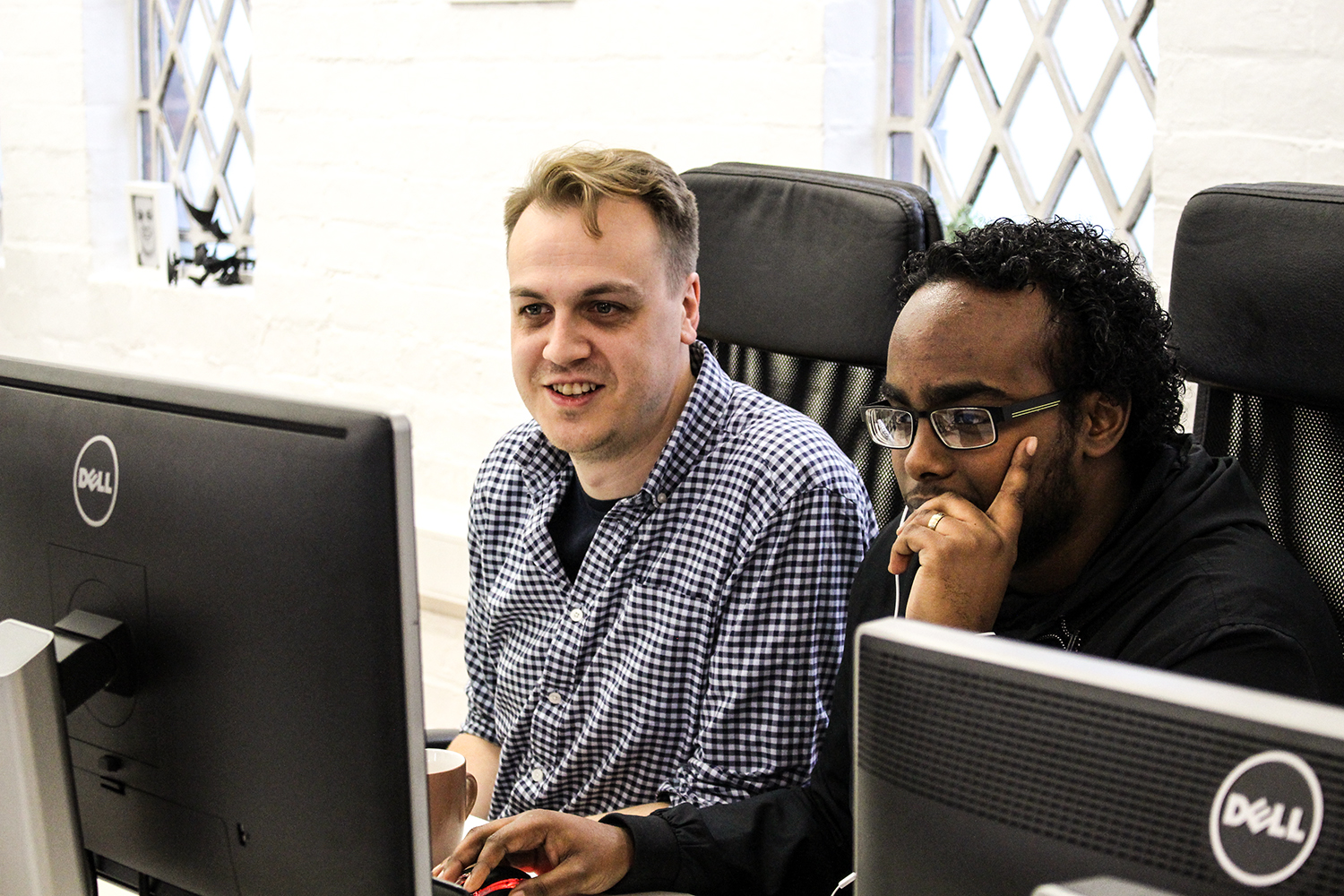 Rashiid, a refugee who has successfully gained a work placement with The Developer Society