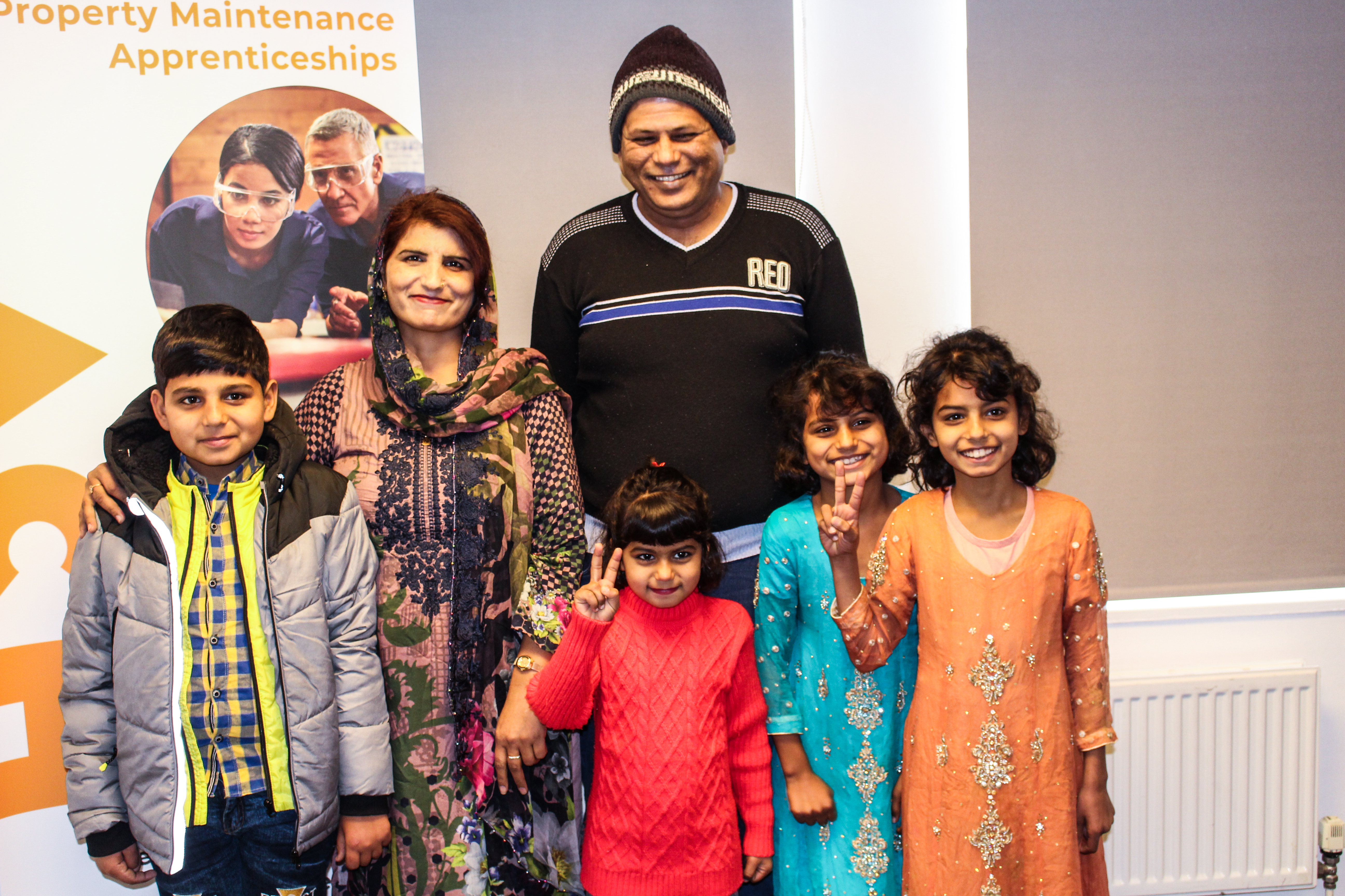 Rehman and his family reunited