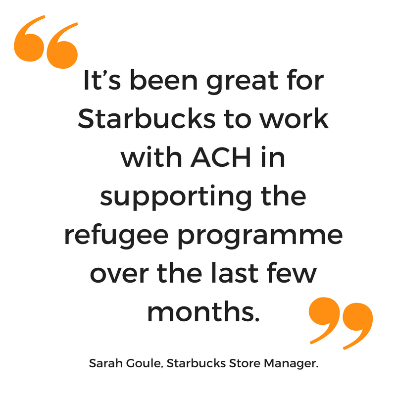 Starbucks quote about ACH