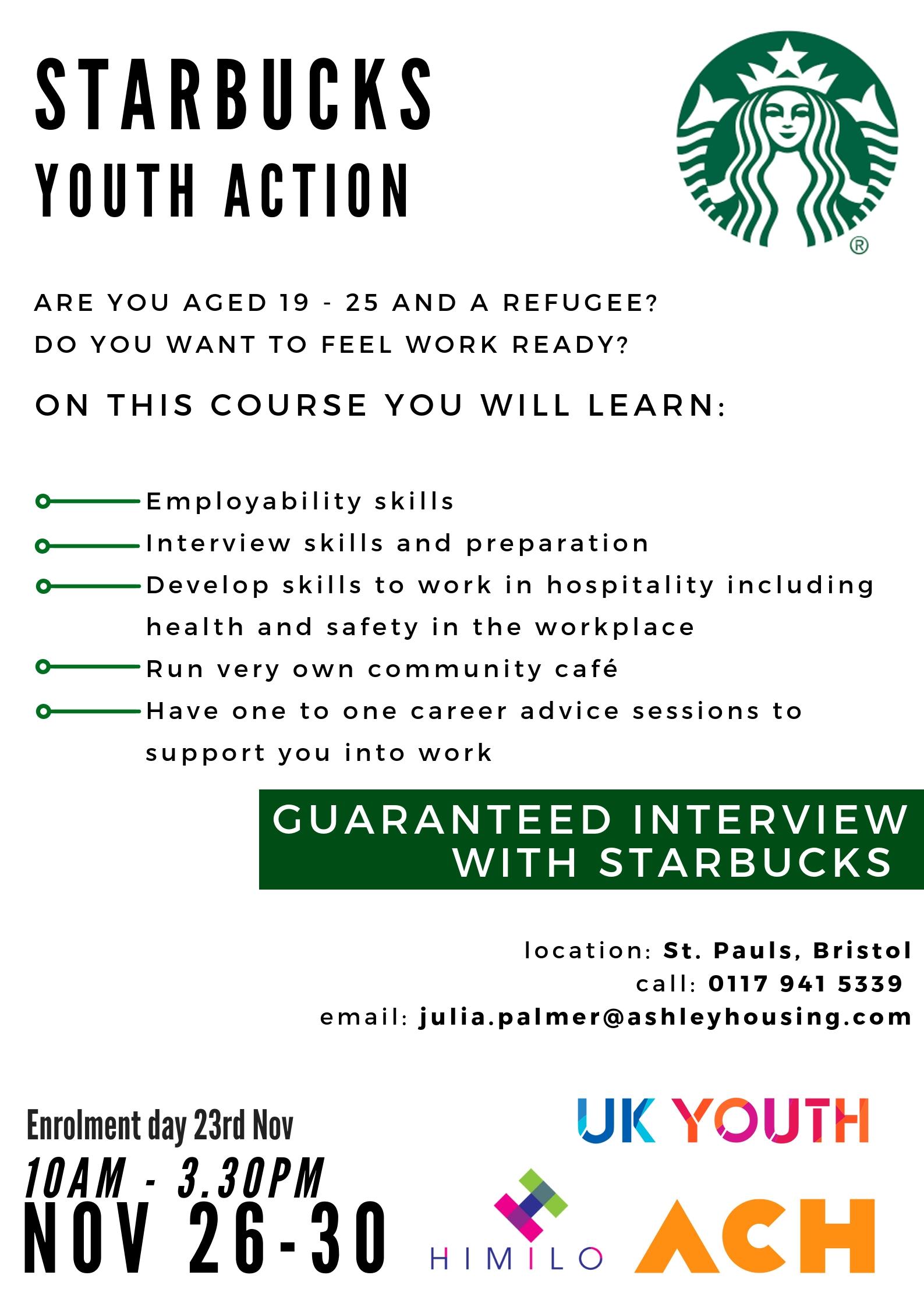 Starbucks Employment Support Programme | ACH