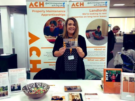 Rose Adderley representing ACH at the West of England Landlord Expo 2019