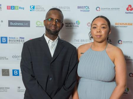 Holly Fowden and Saed Mohamed at the Bristol Live Bristol Post Business Awards 2019