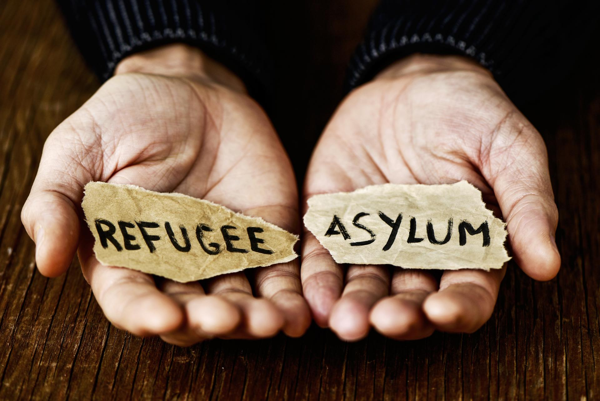 What is the difference between refugees and asylum seekers