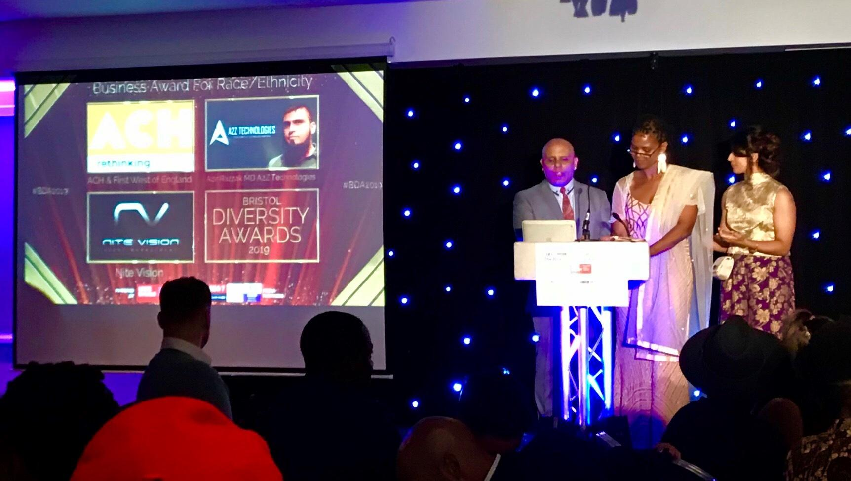 ACH shortlisted for the Business Award for Race/Ethnicity at the Bristol Diversity Awards
