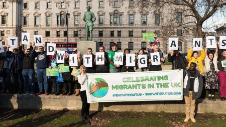 #1DayWithoutUs celebrating migrants in the UK