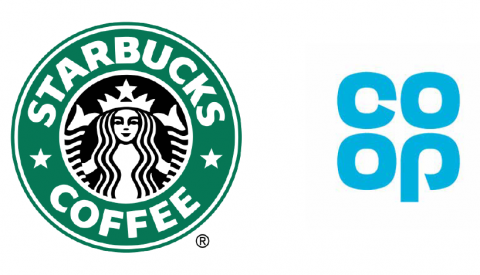 examples of businesses - starbucks and coop