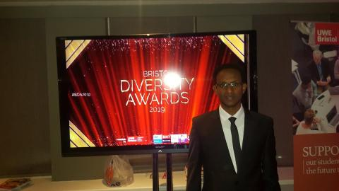 Khalid at the Bristol Diversity Awards 2019
